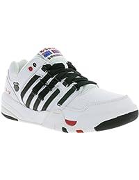 K-SWISS SI-18 International Schuhe Herren Echtleder-Sneaker Turnschuhe Weiß 03368-169-M
