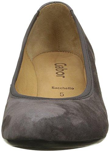 Gabor Shoes Basic, Scarpe con Tacco Donna Grigio (zinn 19)
