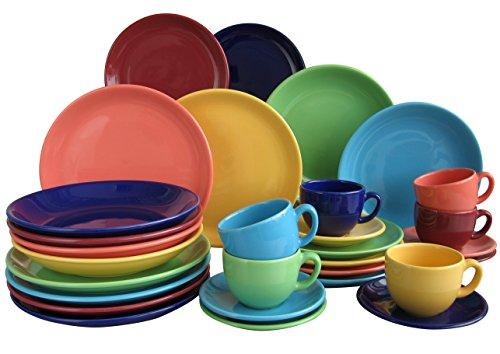 farbige teller Creatable, 14011, Serie TOP colours, Geschirrset Kombiservice 30 teilig