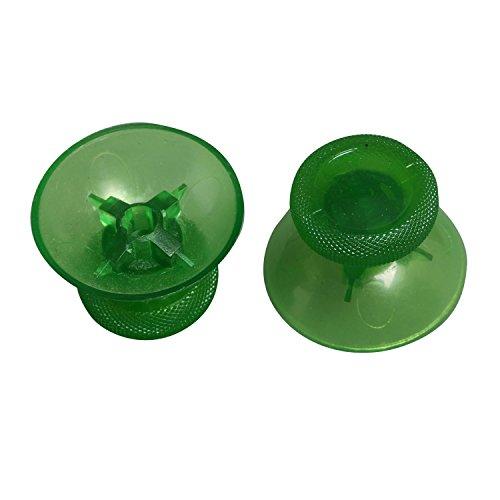 eJiasu 3D-Pilz-Kopf-Kunststoff Thumbstick Analog Stick Joystick Cap Reparatur Ersatzteile für Microsoft XBOX ONE 1 Controller (Transparent grün-4 Stück) M2 Analog