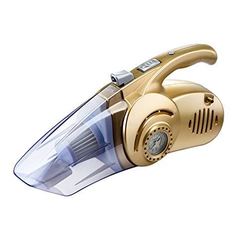 Csheng Auto-Staubsauger 4 In 1 Multi-Funktions-120W nass und trocken Dual-Use-Auto-Vakuum-Kompressor Luftpumpe Zum Aufpumpen mit LED-Licht
