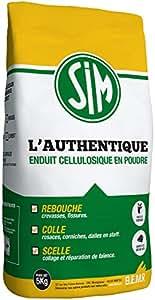 BEMR BMSIM05 Enduit Sim l'Authentique en 5 kg Blanc
