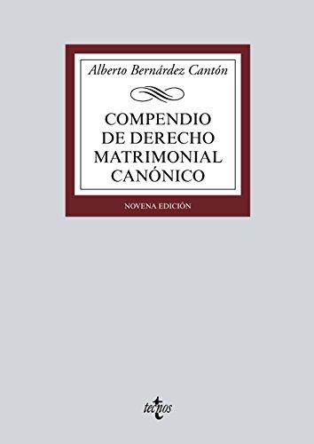 Compendio de Derecho matrimonial canónico (Derecho - Biblioteca Universitaria De Editorial Tecnos)