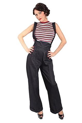 Hosenträger MARLENE Retro DENIM rockabilly jeans High Waist