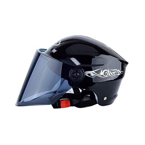 Durable casco del motociclo mezzo aperto del fronte moto regolabile caschi equitazione caschetto di protezione con visiera schermo di vento regard
