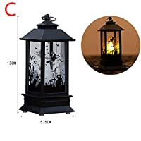 JJ.Accessory Halloween Lantern Flame Light LED Lamp for Outdoor Garden Yard Halloween Festival Home Table Decoration