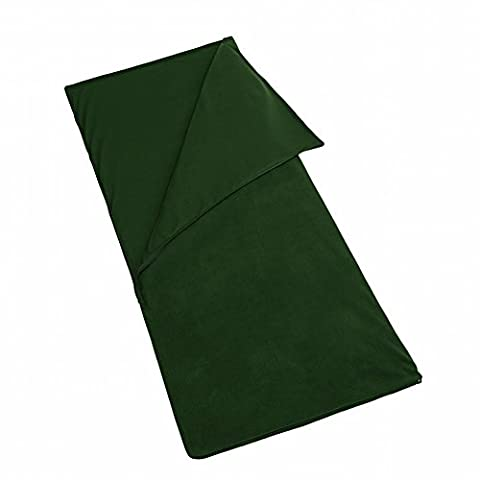 Sac de Couchage en Molleton Ultra - Fine en Fuite en Plein Air Sac de Couchage Paellete en Molleton,Armée verte