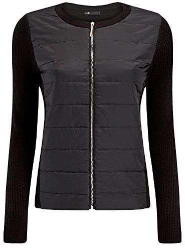 oodji-collection-mujer-chaqueta-con-cremallera-con-acabado-de-tela-negro-es-44-xl