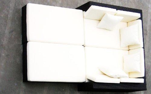 Baidani Gartenmöbel-Sets 10d00001.00002 Designer Rattan Lounge Paradise, 2 Sofas, Sitzauflage, Kissen, braun - 2