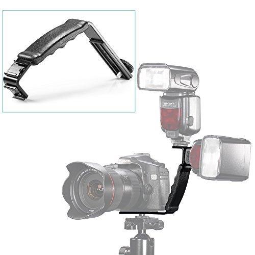 Neewer L-Form Haltewinkel Halter für Blitzlicht-Kamera Mini DV Camcorder mit Blitzschuh