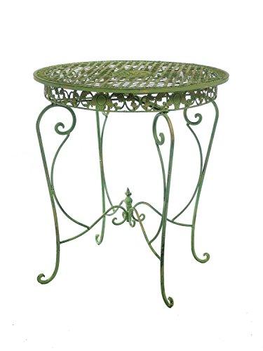 Gartentisch in hellem creme grün Tisch Garten Eisen Antikstil garden table iron