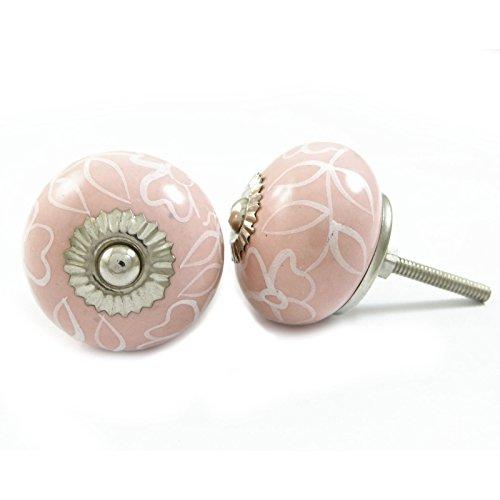 Indian Keramik Knöpfe Rosa Dekorative Knöpfe Schubladenschrank Pull-Hardware Rosa Blume, Knöpfe Für Kommoden