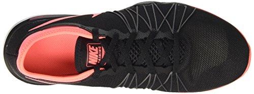 Nike Wmns Dual Fusion Tr Hit, Scarpe Sportive Indoor Donna Nero (Black/lava Glow/dark Grey/pale Grey)