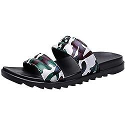 ZahuihuiM Hommes Plage D'été Flip Flops Chaussures De Camouflage De La Mode Sandales Mocassins Mocassins