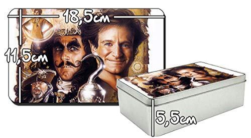 MasTazas Hook Peter Pan Robin Williams Dustin Hoffman Metalldose aus Zinn Metal Tin Box Hoffman-box