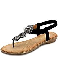Negro Para Eselastica Amazon Zapatos De Sandalias Ygy76bf Vestir rQdCtsh