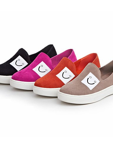 ZQ Scarpe Donna Di pelle/Scamosciato Piatto Plateau/Comoda/Punta arrotondata Mocassini Formale/Casual Nero/Rosa/Beige/Arancione , orange-us8 / eu39 / uk6 / cn39 , orange-us8 / eu39 / uk6 / cn39 peach-us6.5-7 / eu37 / uk4.5-5 / cn37