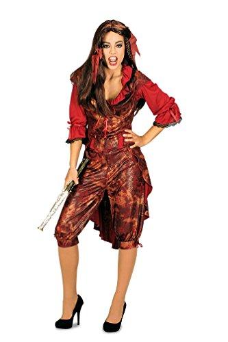 Karneval-Klamotten Piratin Kostüm sexy Piratenkostüm Damen-Kostüm Piraten-Braut Damenkostüm Größe 44/46