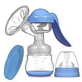 Manuelle Brustpumpe Tragbare Saug Große Postnatale Melkmaschine Ziehen Milch Fütterung Schmerzlos Stillen (Blau)