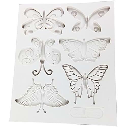 figuras kawaii porcelana fria Vivin formado mariposa del molde del silicón de la estera por Decoración de Pasteles, magdalenas, Sugarcraft y Caramelos