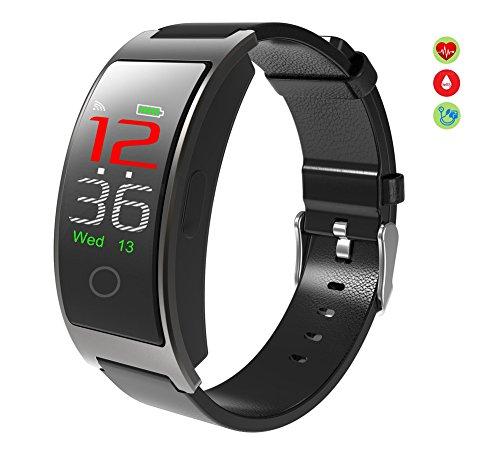 Gold-farb-bildschirm (Borien Smart Watch Tracker Bluetooth Farb-Bildschirm Fitness Armbanduhr für Frauen / Männer, schwarz)