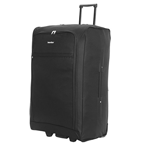 Karabar Alvik valigia di grandi dimensioni 73 centimetri pieghevole, Nero