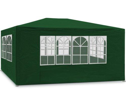 Festzelt grün Maui 3x4m Farbauswahl Seitenwände Rundbogenfenster Verankerbar Partyzelt Pavillon 12qm