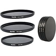 Pro-Photoshop - Juego de filtros de densidad neutra NDO, ND64 y N1000 (72 mm, incluye estuche de protección y tapas)