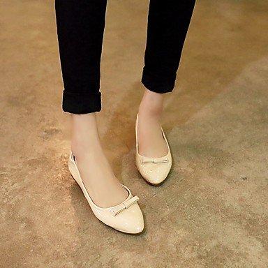 Confortevole ed elegante piatto scarpe donna appartamenti rientrano Comfort Casual in pelle tacco piatto altri Nero Rosso mandorla altri almond
