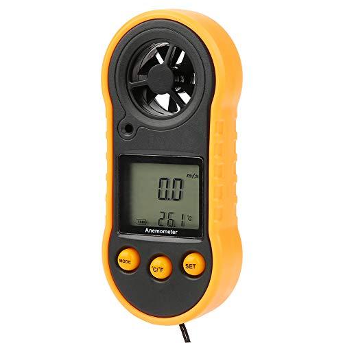 Boquite Digitaler Anemometer Handheld LCD Anemometer Windgeschwindigkeitsmesser Luftgeschwindigkeitsmesser für die Industrie