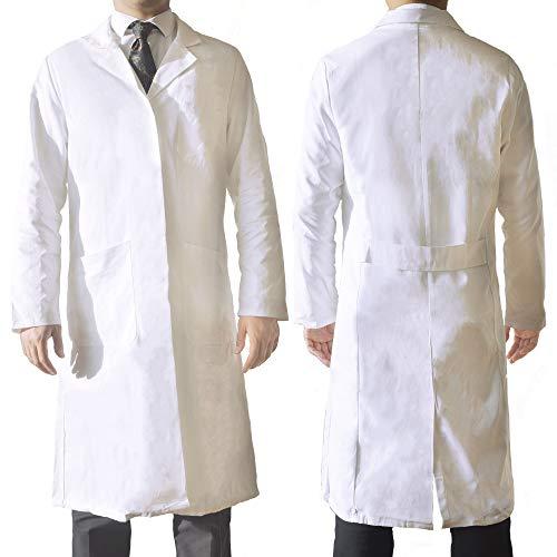 Wissenschaftler Mantel Kostüm - AndroChem Laborkittel/Labormantel - weiß - 100% Baumwolle (M) - als Berufsbekleidung oder hochwertiges Kostüm - Unisex - für Herren und Damen geeignet
