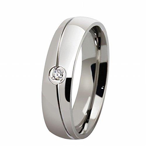 mode-stream Schmuck titan stahl Köper einzigen diamant-ring einfachen mikro-inlay-ring 8 Mikro-diamant-ring