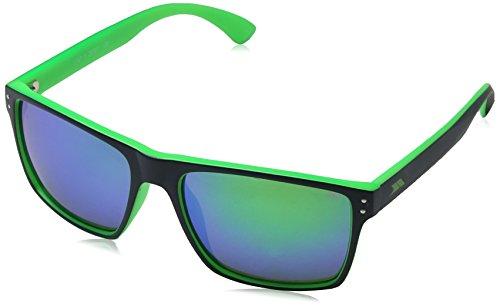 Trespass  Sonnenbrille Zest mit Uv-schutz und Stofftasche, Blue/Lime, One Size, UAACEYM30002_BL3EACH