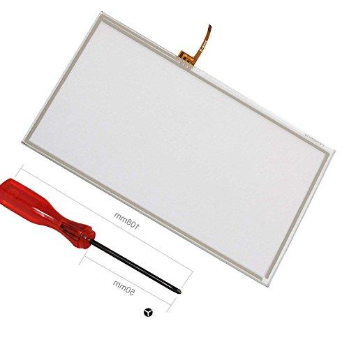 Wii U Ersatz Touchscreen, ENDARK Touchscreen Digitizer Pad Ersatzteile für Wii U Gamepad (1 Stück Touchscreen + 1 Stück Schraubendreher)