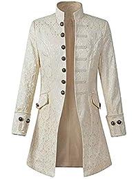 Blouson Homme Hiver Manteau Impression Habit Veste Redingote Gothique  Costume Uniforme Hommes Praty Outwear f78f6200a31