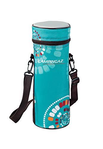 Campingaz Ethnic Minimaxi Flaschenkühler mit Tragegurt 1,5 Liter,Blau/Türkis-Grau