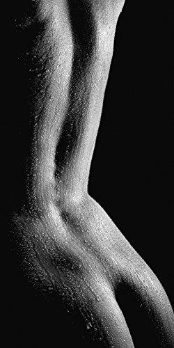 Artland Echt-Glas-Wandbild Deco Glass Jochen Schönfeld Schöner Nasser Rücken Einer nackten Frau in Nahaufnahme vor schwarzem Hintergrund Liebe & Erotik Frau Foto Schwarz/Weiß 100 x 50 x 1,1 cm B2YH -