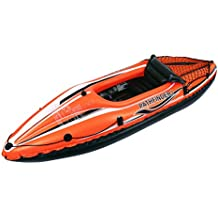 JILONG JL007202N 1personas(s) Negro, Naranja PVC Kayak inflable kayak deportivo - Kayaks deportivos (Kayak inflable, 1 personas(s), 80 kg, Negro, Naranja, PVC, 1 Asiento(s))
