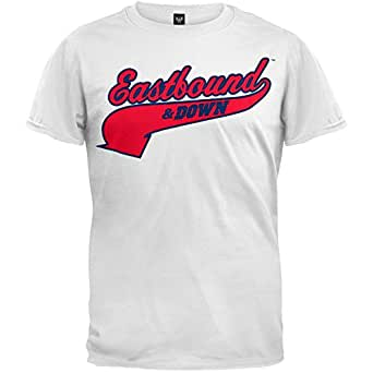 Eastbound and Down - Mens Powers 55 T-shirt - Small White