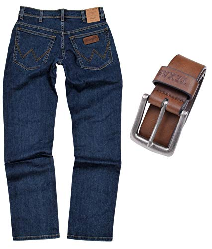 ch Herren Jeans Regular Fit inkl. Gürtel (W34/L36, Darkstone-Braun) ()