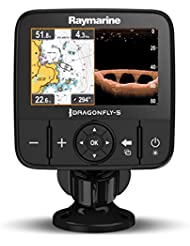 "Raymarine DragonFly 5PRO-CEUR - Sonda GPS y CHIRP/DownVision, pantalla 5"", incluye transductor CPT-DVS y conventional sonar, carta C-MAP Essentials Europa"