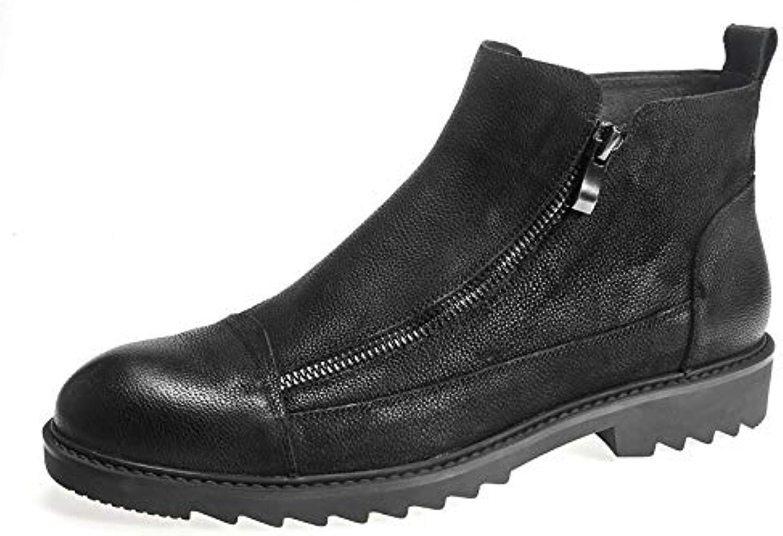 Stivaletti con Zip Neri per Uomo, Stivali Stivali Stivali con Martello Inglese A Vento Tondo Stivali Chelsea | Eccellente valore  118e60