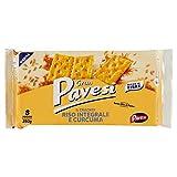 Gran Pavesi Cracker Riso Integrale e Curcuma, Senza Olio di Palma - 8 Pacchetti (280 g)