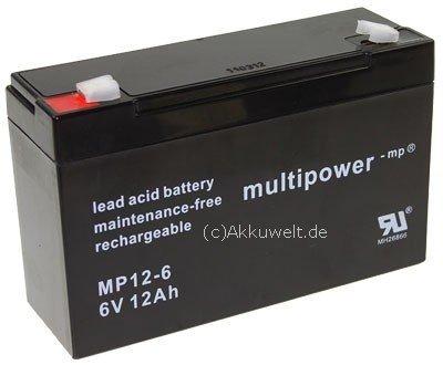 Multipower batterie plomb-acide / MP12-6 / 6V 12Ah