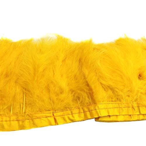 ERGEOB Voll Samt Huhn Federn Stoffstreifen 2 Meter - Ideen für die Bekleidung, Kostüme, Hüte. ()