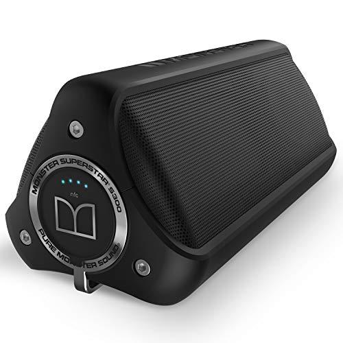 Monster S300-Enceinte portable avec Bluetooth, Noir