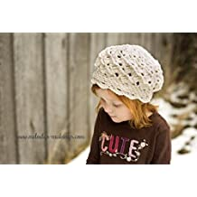 Serenity Slouch Hat Crochet Pattern - Sizes Baby, Toddler, Child, and Adult Included