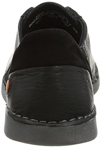 Softinos Damen Ter401sof Sneaker Schwarz (Schwarz)