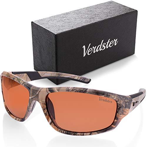 Verdster TourDePro Polarisierte Tarn-Sonnenbrille für Herren und Frauen - Sport & Angeln Brille - UV-Schutz - vollständiges Zubehör - Ideal zum Angeln (Tarnung)