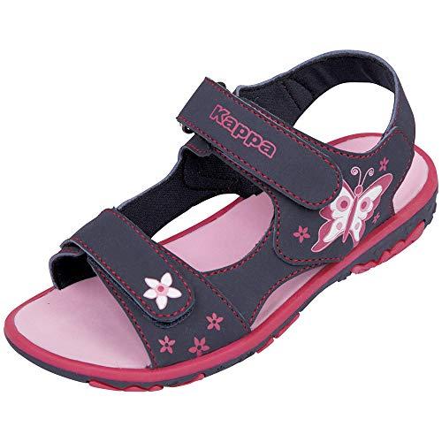 Kappa Blossom Kids, Sandali con Cinturino alla Caviglia Bambina, Blu 6722 Navy/Pink, 26 EU